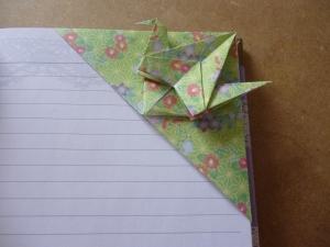 Crane corner bookmark
