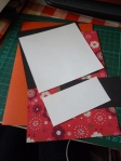 Measured out and cut the pieces of card and patterned paper