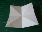 Turn over to get the white side, and fold horizontally/vertically, from side to side