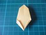 10. Fold the bottom edges up only by a small bit