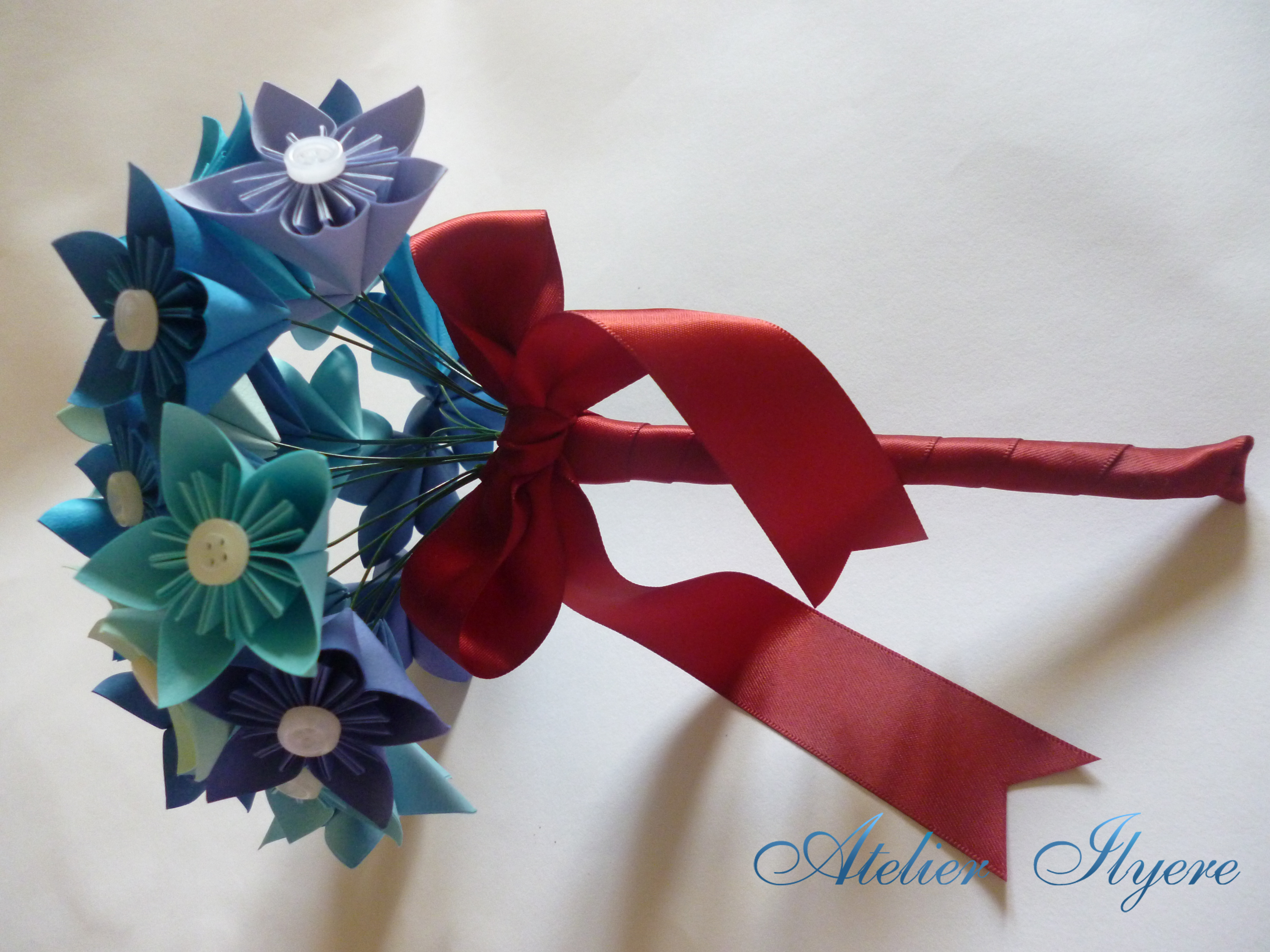 DIY How To: Origami Paper Flower Bouquet | Capitol Romance ... | 3456x4608